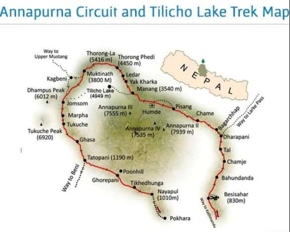 Tilicho Lake Trek Map