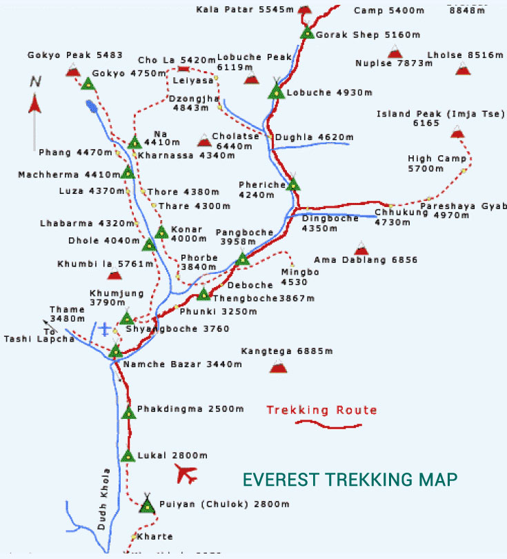 Everest Panorama Trekking Map